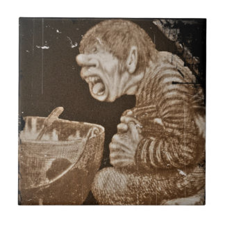 Troll with Giant Cauldron Small Square Tile