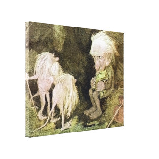 Troll with his Pet Frog Canvas Print