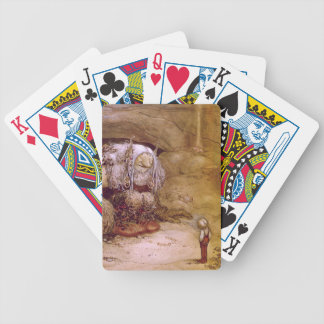Troll with Little Boy Bicycle Poker Cards