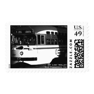 Trolley B/W Postage