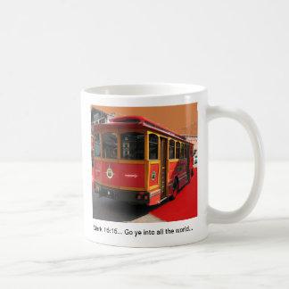 Trolley Bus digital Photo Christian Mark 16:15 Classic White Coffee Mug