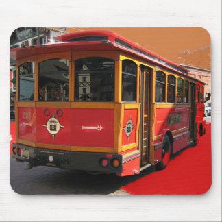 Trolley Bus Digitally Enhanced Photo Mousepad