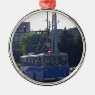 Trolley Bus In Bulgaria Metal Ornament