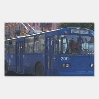 Trolley Bus Rectangular Sticker