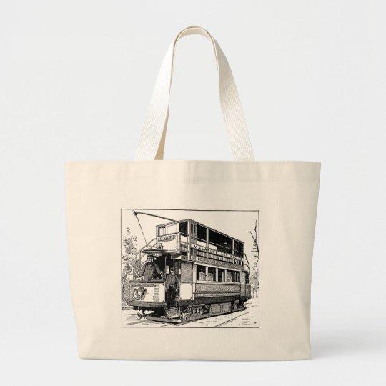 Trolley Car Large Tote Bag