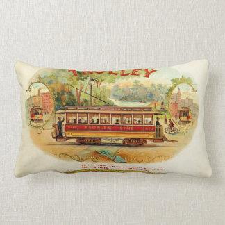 Trolley CIgars Lumbar Pillow