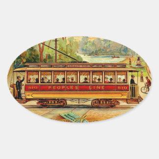 Trolley CIgars Oval Sticker