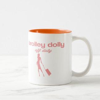 Trolley dolly off duty Two-Tone coffee mug