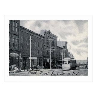 Trolley, Front St., Port Jervis, New York Vintage Postcard