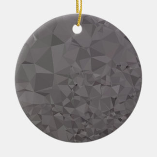 Trolley Grey Abstract Low Polygon Background Ceramic Ornament