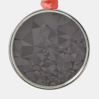 Trolley Grey Abstract Low Polygon Background Metal Ornament