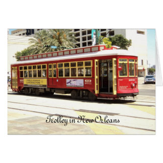 Trolley New Orleans Stationery Note Card