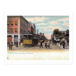 Trolley on Franklin St., Tampa, Florida Vintage Postcard