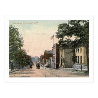 Trolley, Pike St., Port Jervis, New York Vintage Postcard