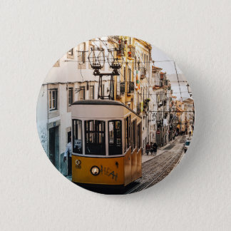 Trolley Street Car Transport Rail Train City Button
