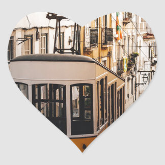 Trolley Street Car Transport Rail Train City Heart Sticker