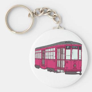 Trolley Trolleybus Streetcar Tram Trolleycar Cars Basic Round Button Keychain