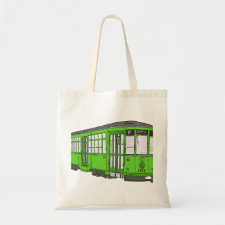 Trolley Trolleybus Streetcar Tram Trolleycar Cars Budget Tote Bag