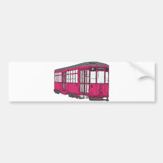 Trolley Trolleybus Streetcar Tram Trolleycar Cars Bumper Sticker