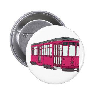 Trolley Trolleybus Streetcar Tram Trolleycar Cars Button
