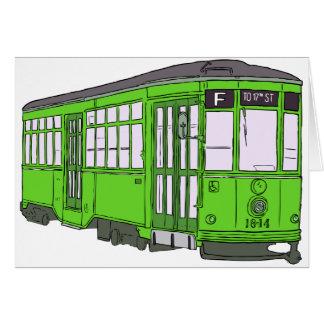 Trolley Trolleybus Streetcar Tram Trolleycar Cars Card