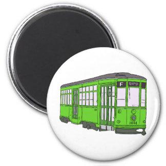 Trolley Trolleybus Streetcar Tram Trolleycar Cars Magnet