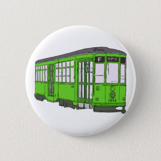 Trolley Trolleybus Streetcar Tram Trolleycar Cars Pinback Button