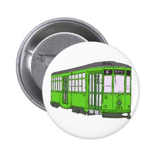 Trolley Trolleybus Streetcar Tram Trolleycar Cars Pinback Button