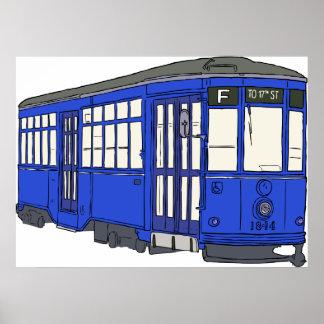 Trolley Trolleybus Streetcar Tram Trolleycar Cars Posters