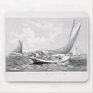 &,'Trolling for bluefish' Mouse Pad