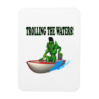 Trolling The Waters Rectangle Magnet