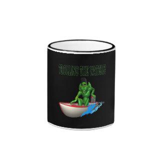 Trolling The Waters Ringer Coffee Mug