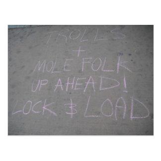Trolls and Mole Folk Postcard