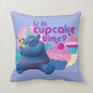 Trolls | Biggie - Is it Cupcake Time? Throw Pillow