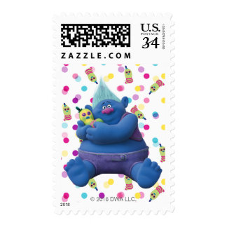 Trolls   Biggie & Mr. Dinkles Postage Stamp