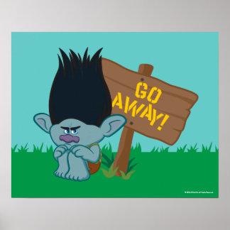 Trolls | Branch - Go Away Poster