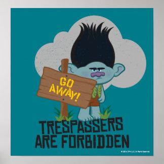 Trolls | Branch - Trespassers are Forbidden 2 Poster