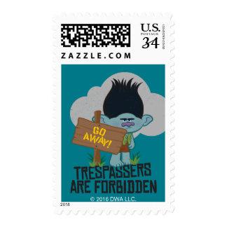 Trolls   Branch - Trespassers are Forbidden Postage Stamp