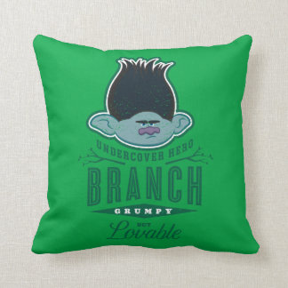 Trolls | Branch - Undercover Hero Throw Pillow