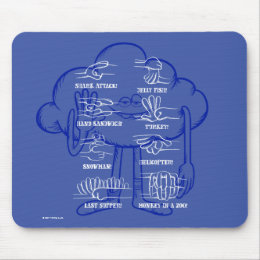 Trolls | Cloud Guy Waving Mouse Pad