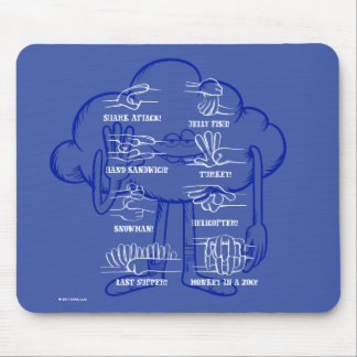 Trolls | Cloud Guy Waving Mouse Pad