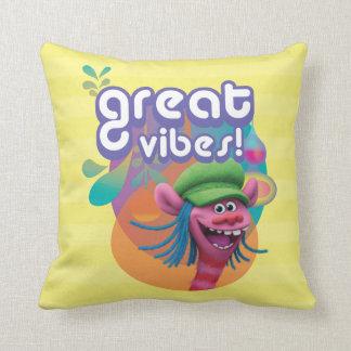 Trolls | Cooper - Great Vibes! Throw Pillow