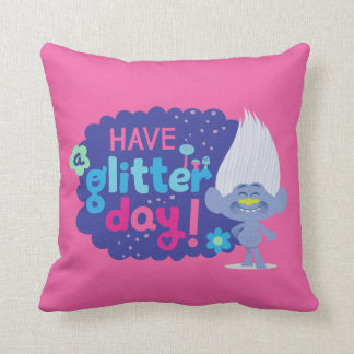 Trolls | Guy Diamond - Have a Glitter Day! Throw Pillow