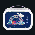 """Trolls   Happy Rainbow Lunch Box<br><div class=""""desc"""">This fun design depicts all of the cutest characters from DreamWorks&#39; Trolls under a bright and colorful rainbow. The iconic quote """"hello happy"""" is boldly displayed across a sea of color in a striking, graphic font. Here we see Branch, Poppy, Biggie and all of your favorite members of the Snack...</div>"""