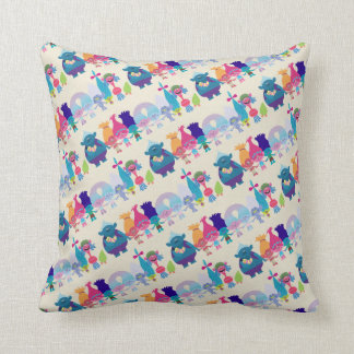 Trolls | Hug Time Pattern Throw Pillow