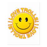 Trolls Love Smile Post Cards