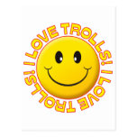 Trolls Love Smile Postcard