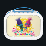"""Trolls   Poppy &amp; Branch - Cupcakes and Rainbows Lunch Box<br><div class=""""desc"""">Welcome to Troll Town where love is always in the hair,  cupcakes with a side of rainbows is an attitude (and snack),  and pants are optional - especially if you&#39;re wearing glitter.</div>"""