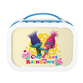 Trolls | Poppy & Branch - Cupcakes And Rainbows Lunch Box at Zazzle