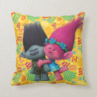 Trolls | Poppy & Branch - No Bad Vibes Throw Pillow